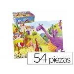 Puzzle Goula color infantil príncipe y dragon 54 piezas