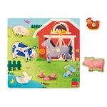 Puzzle Goula mamas y bebes granja 7 piezas