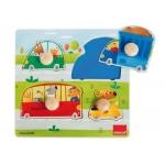 Puzzle Goula vehículos 4 piezas