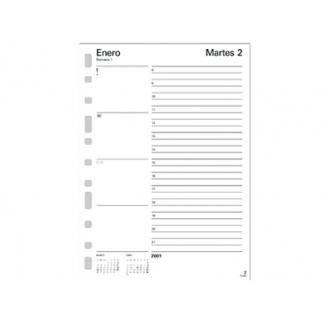Recambio Multifin agenda 1 dia por páginasina