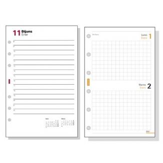 Recambio agenda Finocam 500 anualidad semana a la vista 117x181 mm texto en catalan