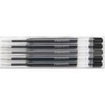 Recambio bolígrafo Inoxcrom gel color negro blister de 5 unidades
