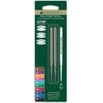 Recambio bolígrafo Monteverde compatible con los de montblanc blister 2 unidades color azul punta media