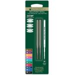 Recambio bolígrafo Monteverde compatibles con los de montblanc blister 2 unidades color negro punta media
