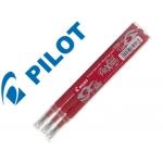 Recambio para bolígrafo borrable Pilot Frixion color rojo caja de 3 unidades