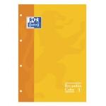 Recambio color Oxford 4a 80 hojas 90 grs cuadros 5 mm 4 taladros amarillo