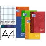 Recambio color Oxford tamaño A4 80 hojas 90 grs cuadros 5 mm 4 taladros colores surtidos paquete de 30