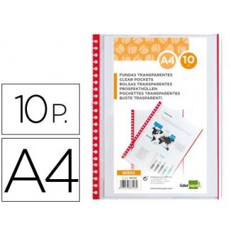 Pregunta sobre Liderpapel WR02 - Recambio de fundas intercambiables, A4, bolsa de 10 unidades, bordes de color