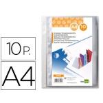Liderpapel WR01 - Recambio de fundas intercambiables, A4, bolsa de 10 unidades