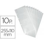 Recambio fundas Duraclip visifix para tarjetero bolsa de 10 hojas capacidad 8 tarjetas por hoja