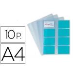 Recambio fundas Pardo para tarjetero tamaño A4 bolsa de 10 hojas capacidad 16 tarjetas por hoja