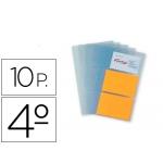Recambio fundas Pardo para tarjetero tamaño cuarto bolsa de 10 hojas capacidad 6 tarjetas por hoja