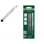 Recambio roller gel Monteverde compatibles con los de montblanc blister 2 unidades color negro punta media