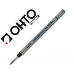 Recambio rotulador roller Ohto 0.7 color azul