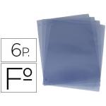 Recambios de 6 fundas para porta menus tamaño folio