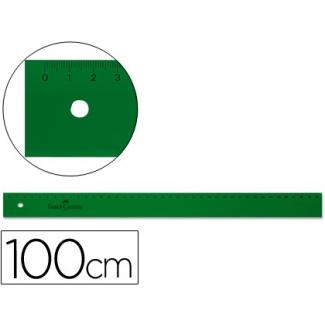 Regla Faber-Castell 100 cm plástico color verde