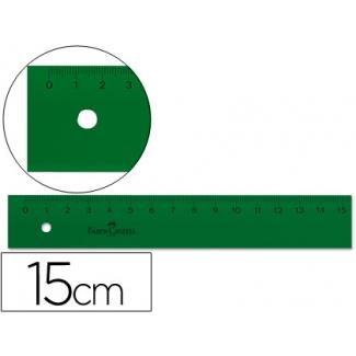 Regla Faber-Castell 15 cm plástico color verde