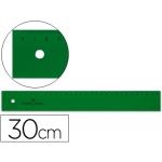 Faber-Castell 813 - Regla de plástico, 30 cm, color verde