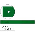 Faber-Castell 814 - Regla de plástico, 40 cm, color verde