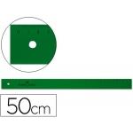 Faber-Castell 815 - Regla de plástico, 50 cm, color verde