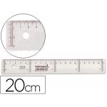 Liderpapel RG01 - Regla de plástico, 20 cm, transparente