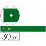 Regla Liderpapel 30 cm acrilico color verde