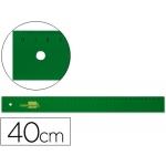 Regla Liderpapel 40 cm acrilico color verde