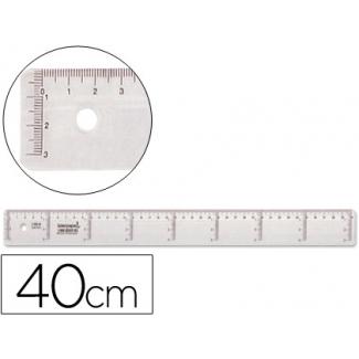 Regla Liderpapel 40 cm plástico cristal