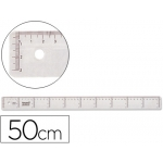 Liderpapel RG06 - Regla de plástico, 50 cm, transparente