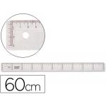 Regla Liderpapel 60 cm plástico cristal