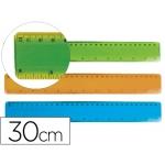 Regla Liderpapel plástico flexible de 30 cm colores surtidos