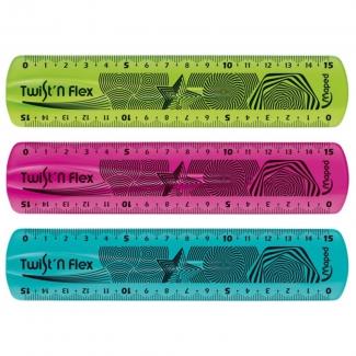 Regla Maped plástico flexible de 15 cm colores surtidos