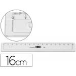 Mor 11160000 - Regla de plástico, 16 cm, color gris humo