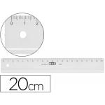 Mor 11200000 - Regla de plástico, 20 cm, transparente
