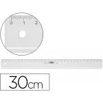 Regla Mor 30 cm plástico transparente