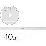 Regla Mor 40 cm plástico transparente