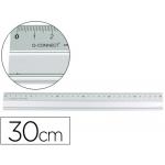 Regla metálica Q-Connect aluminio 30 cm
