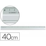 Q-Connect KF00287 - Regla metálica aluminio, 40 cm
