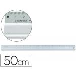 Q-Connect KF00288 - Regla metálica aluminio, 50 cm