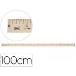 Regla para encerado Faibo de plástico imitación madera 1 mt