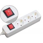 Regleta 3 tomas Mediarange color blanca con interruptor longitud cable 1,4m