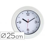 Reloj Cep de pared plástico oficina redondo 25 cm de diámetro de color blanco