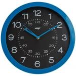 Reloj Cep de pared plástico oficina redondo 30 cm de diámetro de color azul y esfera color negro