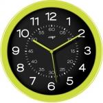 Reloj Cep de pared plástico oficina redondo 30 cm de diámetro de color verde y esfera color negro