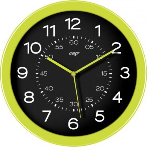 4e3c34fe8 Reloj Cep de pared plástico oficina redondo 30 cm de diámetro de color  verde y esfera