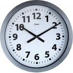 Reloj Cep de pared plástico oficina redondo 60 cm de diámetro de color gris y esfera color blanco