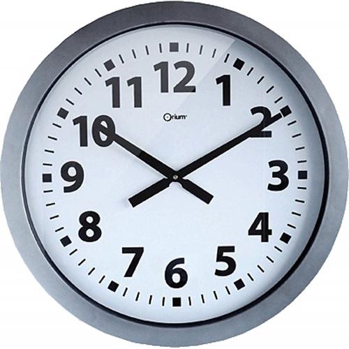 36def34d0020 Reloj Cep de pared plástico oficina redondo 60 cm de diámetro de color gris  y esfera