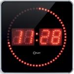 Reloj Orium digital led studio 2 en 1 negro/plata
