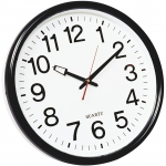 Reloj Q-connect de pared plástico bs-oficina redondo 35 cm marco color negro