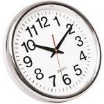 Reloj Q-Connect de pared plástico oficina redondo 28 cm marco cromado
